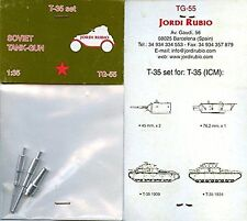 Jordi Rubio 1/35th Scale Soviet Tank Gun T-35 Set No. TG-55