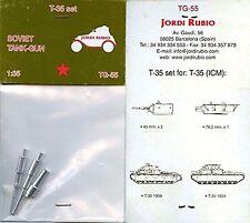 Jordi Rubio 1/35th Scale Soviet Tank Gun T-35 Set No. TG-55