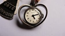RODANEX ladies solid 800 silver pendant vintage watch handwinder NOS