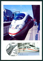 BRD MK EISENBAHN ICE TRAIN PRIVATE !! MAXIMUMKARTE CARTE MAXIMUM CARD MC CM bu98
