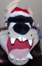 "Tazmanian Devil  Taz Looney Tunes Christmas Santa  Plush NWT 10"""