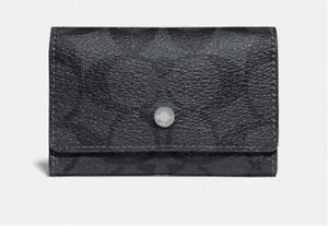 [NWT] Coach Five Ring Key Case In Signature Canvas in Black #gift4him #gift4her