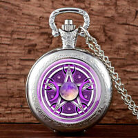 Vintage Quartz Pocket Watch Chain Sailor Moon Antique Necklace Retro Pendant