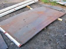 1 STEEL CHECKER / CHEQUER PLATE / TREAD PLATE DURBAR APPROX 10FT X 5FT X 6MIL