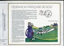 DOCUMENT CEF PREMIER JOUR  1980  TIMBRE   N° 2105 FEDERATION FRANCAISE DE GOLF