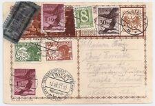 1931 AUSTRIA TO CZECHOSLOVAKIA ZEPPELIN COVER, INCREDIBLE FRANKING !!