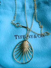 """TIFFANY & CO 18K YELLOW GOLD  PENDANT NECKLACE 16"""""""