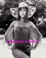 JANE SEYMOUR 8X10 Lab Photo B&W 1980s Sexy Risque Busty Sun Hat Portrait