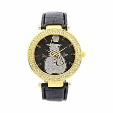 Snowman Quartz Watch Austrian Crystal Christmas
