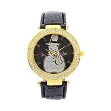 Sparkly Snowman Quartz Watch Austrian Crystal USA SELLER