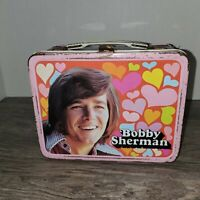 VINTAGE 70s BOBBY SHERMAN THERMOS BRAND METAL LUNCH BOX