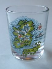 Liquor Shot Glass ~ IRELAND: Belfast,Dublin,Irish Sea,Galway Bay,Donegal Bay