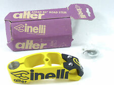 "Cinelli Alter stem 120mm 1"" black yellow Once Vintage Bicycle Lance New NOS"