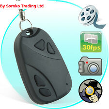 720 x 480 808 Car Key Chain Hidden Camera Digital Video Recorder Card New Black