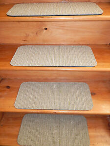 13 Step  Outdoor/Indoor Stair Treads Non - Slip Step Carpet Rug Choose Size.