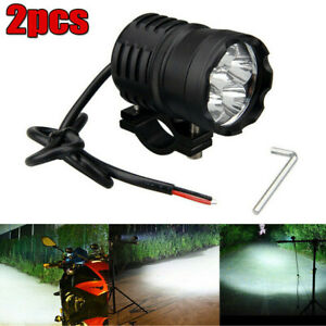 Durable Motorcycle LED Spot Lights Driving Headlight Fog Head Lamp With Switch