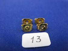 14K Gold  Friction Pushback Push Back Earrings Backs   (2 Pairs)    item #13