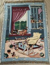Disney Classic Winnie the Pooh Woven Tapestry Throw Blanket Piglet Tigger 44X64