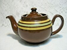 Vtg 1950's Brown Teapot Alcock Lindley & Bloore Made in England ALB. 12 Oz