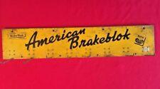 "NAPA Auto Store Display Hang Rack Advertising Sign AMERICAN BRAKEBLOCK Brake 34"""