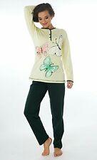 Damen-Pyjama Schlafanzug (DW719) Gr. 42-44 Baumwolle Jersey