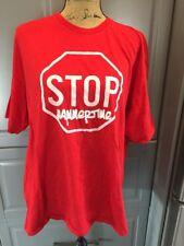 Vintage HAMMERTIME Red T Shirt Top Mens Short Sleeves
