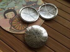 5x Huge Round Locket 38mm bright silver code 66248