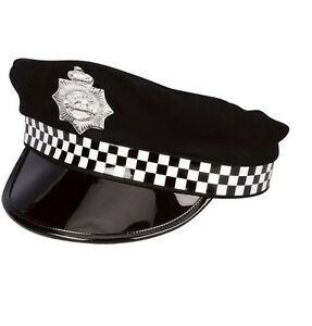 Policeman Hat With Peak For Policeman Fancy Dress Party Accessory
