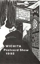 1992 COMIC POSTCARD SHOW DRACULA WICHITA McPHERSON KS  ARTIST SIGNED HALLOWEEN