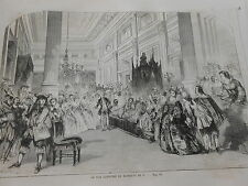 Gravure 1859 - Le Bal costumé du Marquis de C...