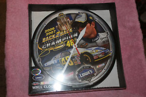 Jimmie Johnson #48 Wall Clock 2006-2007 back to back Champion new