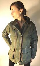 New Ladies Womens Tweed Jacket Coat Green Pink Country Outdoor Fashion Sports