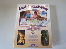 Teddy Ruxpin 1986 Land of Grundo Map Play Area with Grubby & Tweeg & Box