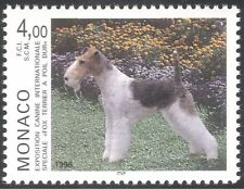 Monaco 1996 Fox Terrier/Dog Show/Dogs/Animals/Nature/Pets 1v (n18678)
