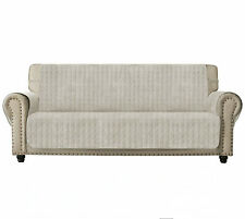 Sofa Cover Slip Resistant Sofa Slipcover Protector,Suede-Like ,Ivory White