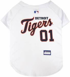 Pets First MLB Detroit Tigers Mesh Jersey for Dogs and Cats - Licensed Soft Poly