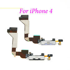 For iPhone 4 Charging Port Dock Block Connector Flex Cable Mic Assembly white uk