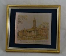 Reed Barton Penn State Old Main Silver 24kt Gold Vermeil Copper Bronze Painting