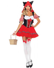 NWT Adult Women's Little Red Riding Hood Wolf Ears Costume Halloween Sz Medium