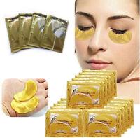 10Pairs Gold Crystal Collagen under Eye Pads Mask Anti Dark Circle Wrinkles