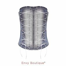 Patternless Corset Casual Sleeveless Tops & Shirts for Women