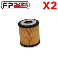 2 x WCO56 Wesfil Oil Filter - Ford, Mazda - R2604P, LF0114302, L32114302