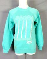 vtg 80s retro Puffy Paint Cayman Islands Raglan Sleeve Sweatshirt indie SZ S