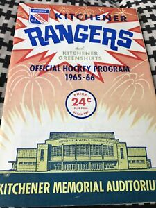 Toronto Marlboros vs Kitchener Rangers Hockey OHA Program Feb 4 1966 Brad Park
