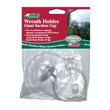 Adams Wreath Holder Giant Suction Cup 2 Hook Hanger UPVC Door Reusable No Damage