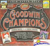 2018 Upper Deck Goodwin Factory Sealed HOBBY Box-3 HITS (Auto/Relic/Patch/3-D)