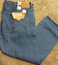 NWT Levi's 501 BIG & TALL 54X32 Straight Leg Button Fly Stonewash MSRP $74