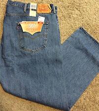 NWT Levi's 501 BIG & TALL 50X34 Straight Leg Button Fly Stonewash MSRP $74