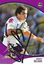 ✺Signed✺ 2009 MELBOURNE STORM NRL Premiers Card ADAM BLAIR Daily Telegraph