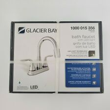 Glacier Bay Bath Faucet with LED Light in Chrome Home Sink NIB